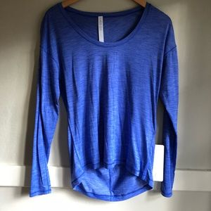 Blue lightweight Lululemon long sleeve!
